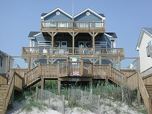 Oceanfront Exterior - Tipsy Turtle N - Surf City - rentals