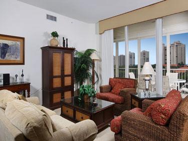 Living Room - The Regatta 1-702 - Naples - rentals