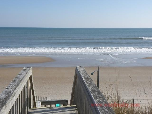 Oceanview from Private Walkway - Sea Bees - Surf City - rentals