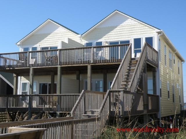 Oceanfront Exterior - Atlantic Sunrise - Topsail Beach - rentals