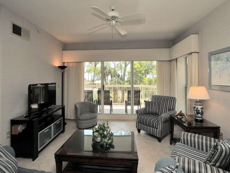 Living Room at 107 Barrington Arms - 107 Barrington Arms - Palmetto Dunes - rentals