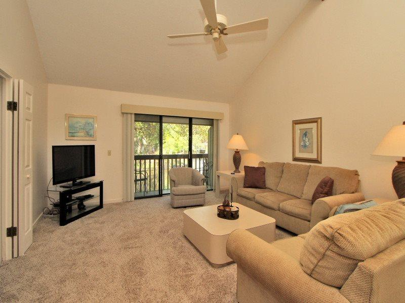 Living Room at 15 Turtle Lane Club - 15 Turtle Lane Club - Sea Pines - rentals