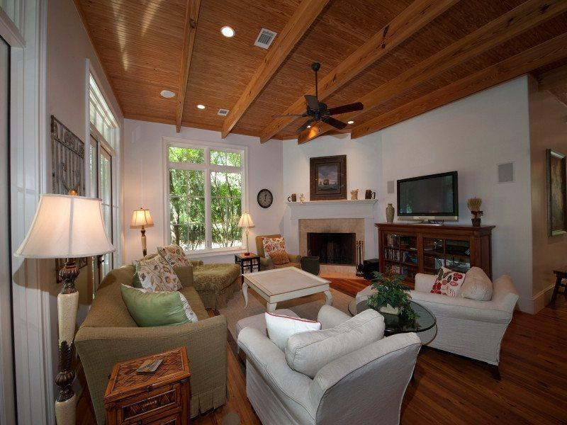 Living Room with Plasma Television at 30 Canvasback - 30 Canvasback - Sea Pines - rentals