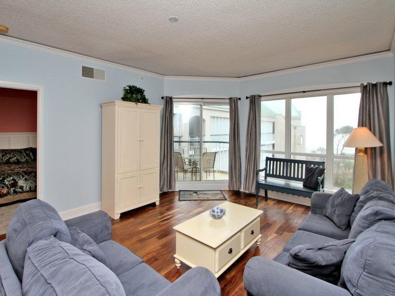 Living Room with Ocean Views at 3503 Windsor Court South - 3503 Windsor Court South - Palmetto Dunes - rentals