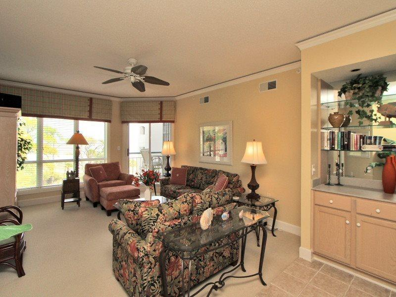 Living Room with Ocean Views at 4402 Windsor Court North - 4402 Windsor Court North - Palmetto Dunes - rentals