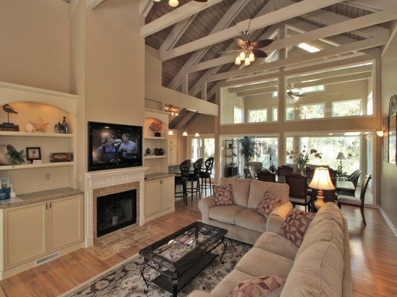 Living Room at 8 Black Skimmer - 8 Black Skimmer Road - Sea Pines - rentals