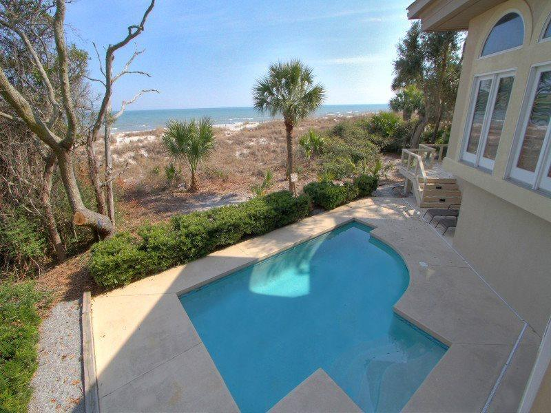 Pool and Deck Area at 8 Long Boat - 8 Long Boat - Palmetto Dunes - rentals