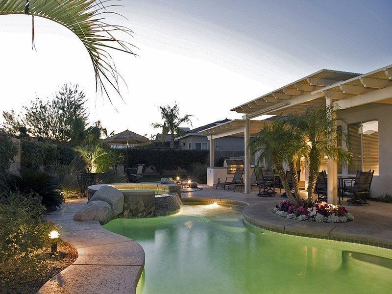Pool  Spa at Dusk - H- La Quinta Paradise - Bermuda Dunes - rentals