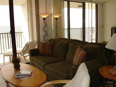 Living Room - SeaWin 403 - Sea Winds - Marco Island - rentals