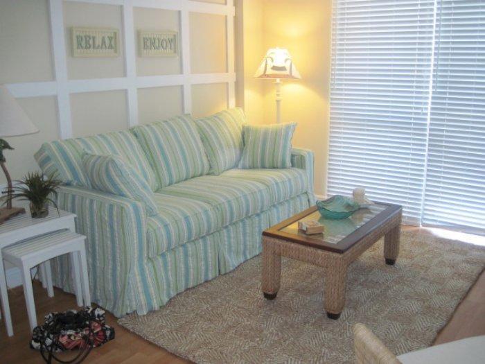 Living Room - Tradewind406 - Tradewinds Condo - Marco Island - rentals