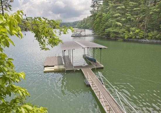 LAKE HIDEAWAY- 4BR/3BA- LAKE CABIN WITH MOUNTAIN VIEW SLEEPS 12, LOCATED NEXT DOOR TO LAKESIDE LODGE, PRIVATE DOCK, CHARCOAL GRILL, PING PONG, PET FRIENDLY, HOT TUB, SAT TV, FIRE PIT, WOOD BURNING FIREPLACE! ONLY $250/NIGHT! - Image 1 - Blue Ridge - rentals