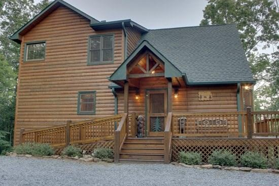 MOUNTAIN TOPS SERENITY--3 BR/3 BA, SPECTACULAR MTN VIEW, WI-FI, LARGE HOT TUB, SCREENED PORCHES, POOL TABLE, FOOSBALL, GAS LOG FIREPLACE, GAS GRILL, SMALL DOGS WELCOME, ONLY $160/NIGHT! - Image 1 - Blue Ridge - rentals