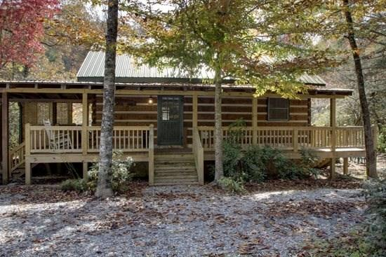TOCCOA RIVER LOG CABIN- 3BR/1BA,AUTHENTIC DOVE TAIL CABIN ON THE TOCCOA RIVER, ACCESS TO GREAT TROUT FISHING, TUBING, AND KAYAKING JUST STEPS FROM CABIN, CHARCOAL GRILL, WIFI, WOOD BURNING FIREPLACE, PETS WELCOME, ONLY $155/NIGHT! - Image 1 - Blue Ridge - rentals