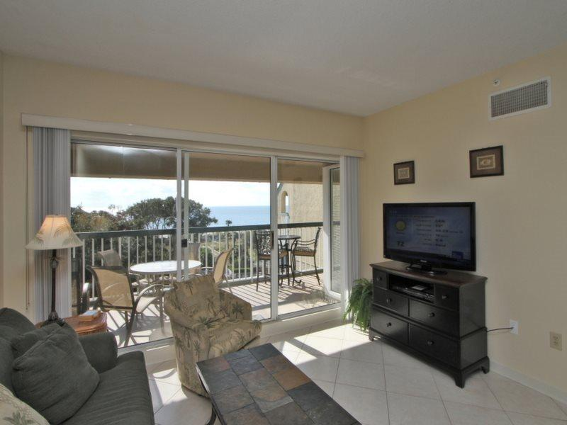 Living Room with Ocean Views at 502 Barrington Arms - 502 Barrington Arms - Palmetto Dunes - rentals