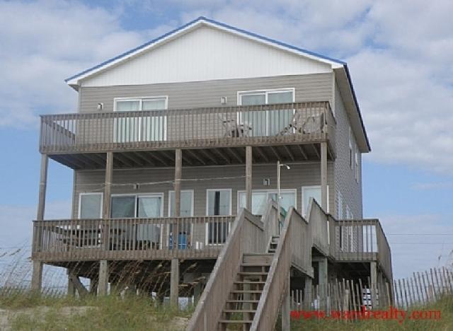 Oceanfront Exterior - Bennett - North Topsail Beach - rentals