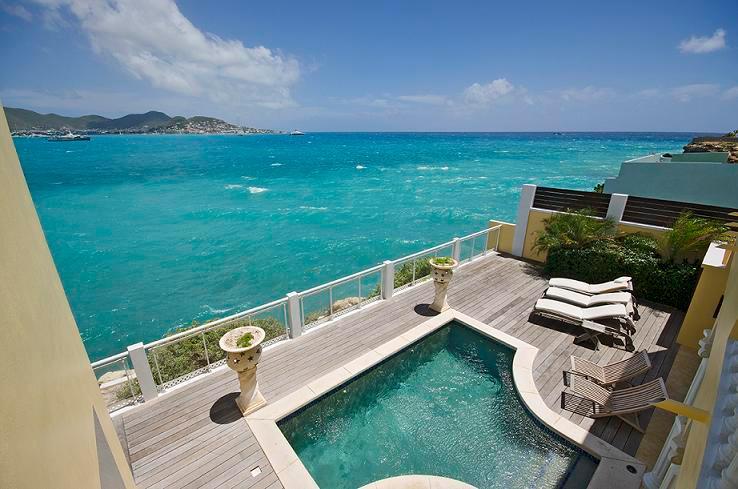 Tara...Simpson Bay, St. Maarten 800 480 8555 - TARA...large affordable oceanfront villa, walk to beach - Beacon Hill - rentals