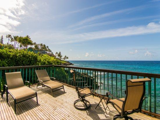 lanai - Free car* with Poipu Shores 101B - You cannot get closer to the ocean. 1 bed, large lanai, AC and a heated Pool! - Poipu - rentals