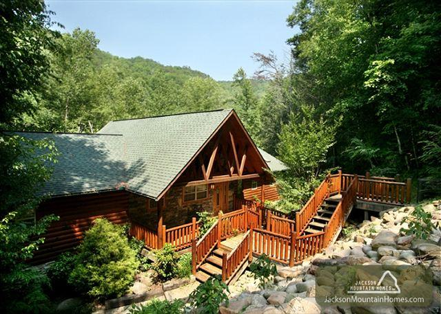 Aah-Some River Lodge   On the River Private Hot Tub WiFi   Free Nights - Image 1 - Gatlinburg - rentals