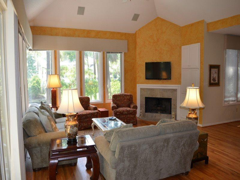 Living Room overlooking Pool at 167 Mooring Buoy - 167 Mooring Buoy - Palmetto Dunes - rentals