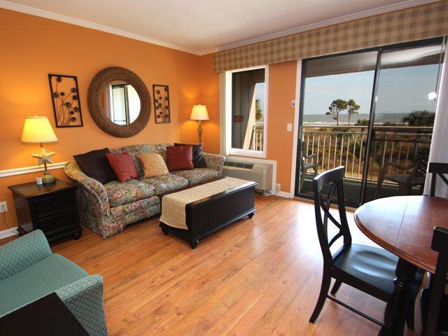 Living area 2 - Ocean Dunes, 208 - Hilton Head - rentals