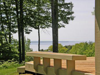 Private back deck overlooks Lake Michigan - Westridge 18 80933 - Harbor Springs - rentals