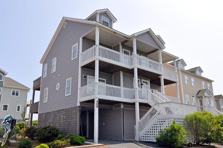 408 Hampton Colony - Hampton Colony 408 Oceanfront-B Lot! | Community Pool, Hot Tub, Internet, Game Equipment - North Topsail Beach - rentals
