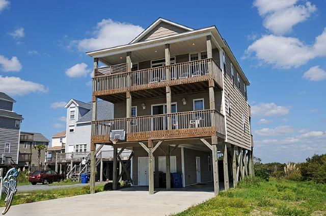 Main View - Island Drive 3739 Oceanview!   Private Pool, Hot Tub, Internet, Game Equipment, Pet Friendly - North Topsail Beach - rentals