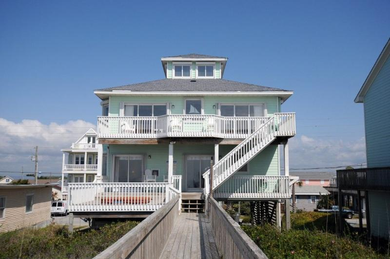 From the Beach Side - N. Shore Dr. 328 Oceanfront! | Hot Tub, Internet, Jacuzzi Tub, Fireplace - Surf City - rentals