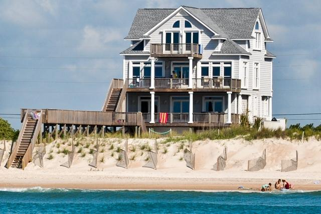 I'm on a boat! - New River Inlet Rd 1056 Oceanfront! | Private Pool, Hot Tub, Jacuzzi, Internet, Fireplace - North Topsail Beach - rentals