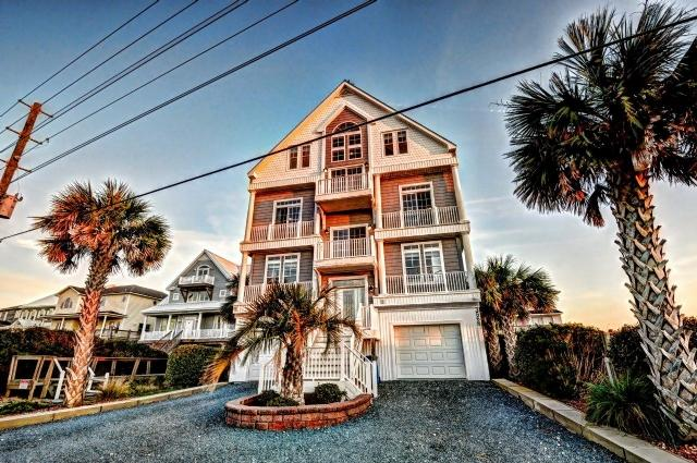 Twilight Shot - Island Drive 3568 Oceanfront! | Private Heated Pool, Hot Tub, Elevator, Jacuzzi, Internet, Fireplace, Game Equipment - North Topsail Beach - rentals