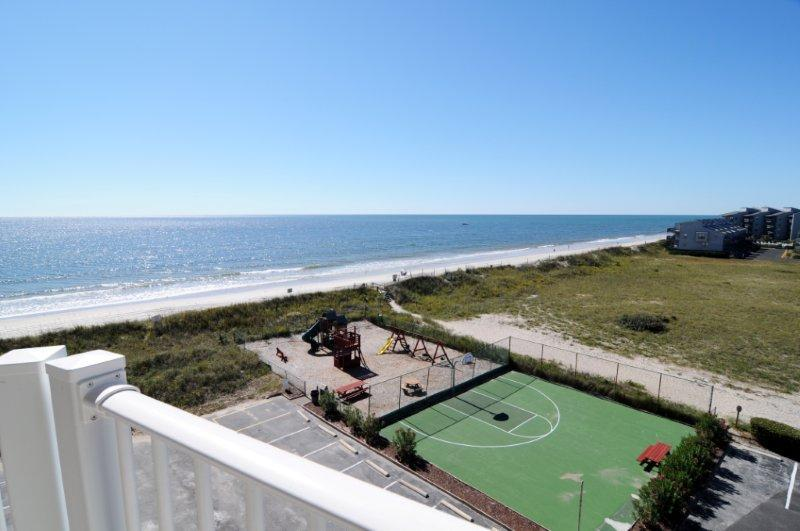 View From Your Balcony - St. Regis 1404 Oceanfront! |  Indoor Pool, Outdoor Pool, Hot Tub, Tennis Courts, Playground - North Topsail Beach - rentals