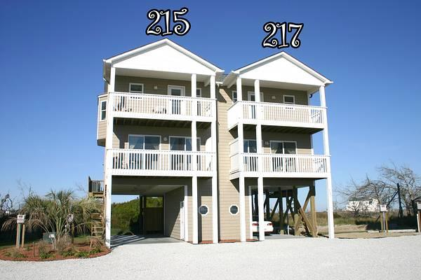 Main View - Pinellas Bay 215 Oceanview! | Jacuzzi, Connecting Door - North Topsail Beach - rentals
