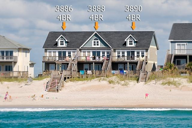 I'm on a boat! - Island Drive 3890 Oceanfront! | Shared Pool, Internet - North Topsail Beach - rentals