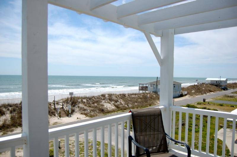The View from the top deck.  - Topsail Road 321 Oceanview! | Cute Beach Cottage only steps away from the beach access - North Topsail Beach - rentals