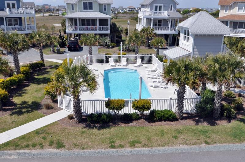 View From Above - Sea Side Village 104 Oceanview! | Community Pool, Internet - North Topsail Beach - rentals