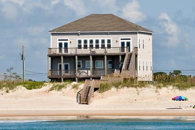 I'm on a boat! - New River Inlet Rd 1330 Oceanfront! | Hot Tub, Theater, Jacuzzi, Elevator, Internet - North Topsail Beach - rentals