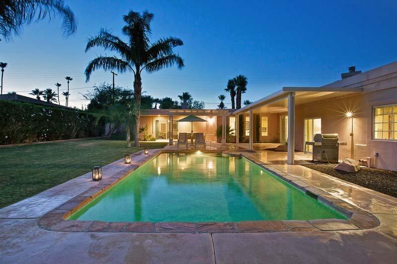 Private Backyard  with Pool  Spa - H-Villa Altamira - Palm Springs - rentals
