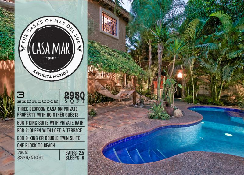 Welcome to Casa Mar - Sayulita's Premiere Family Vacation Rental - PRIVATE! 3 BD & BA HTD POOL 1 MIN WALK TO BEACH - Sayulita - rentals