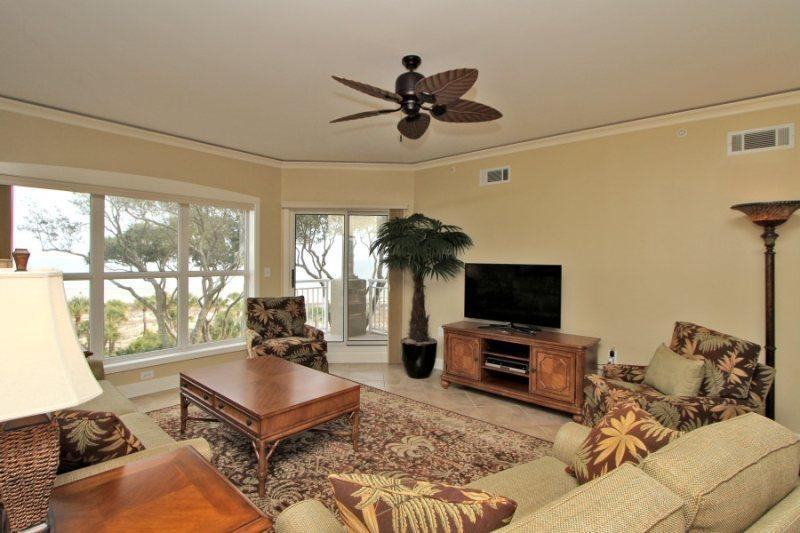 Living Room with Ocean Views at 5406 Hampton Place - 5406 Hampton Place - Hilton Head - rentals