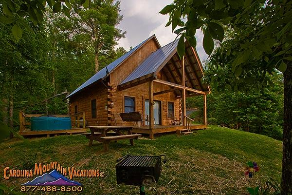 Mountain Hideaway log cabin - Image 1 - Bryson City - rentals