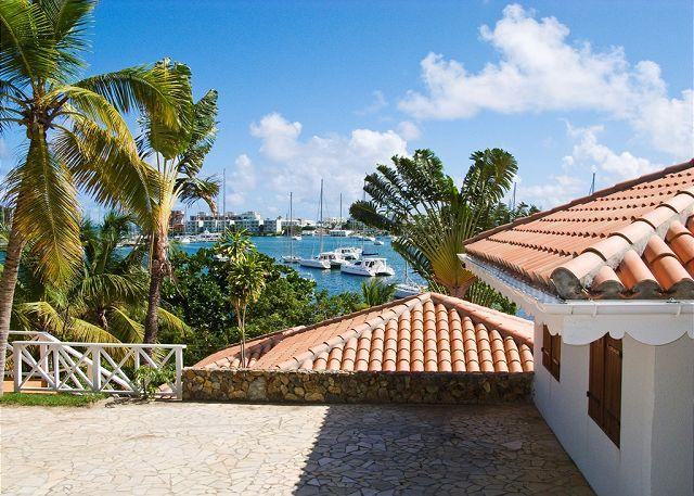 Waterfront Villa on French Oyster Pond overlooking the picturesque marina. - Image 1 - Saint Martin-Sint Maarten - rentals