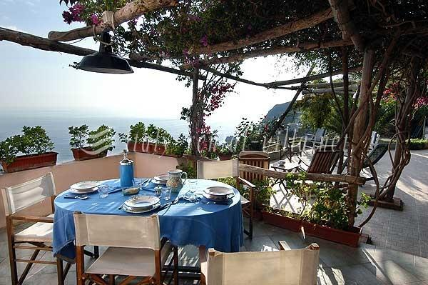 patio - Torre A Mare - nice sea view from the garden - Praiano - rentals
