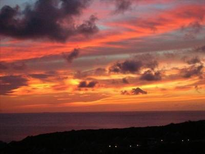 Sunset view from the terrace - Beautiful 3 BR Villa Curacao - Stunning Sea View - Curacao - rentals