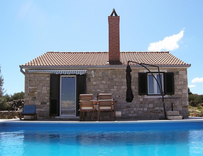 Cozy stone house with a pool, Postira, Brac - Image 1 - Postira - rentals