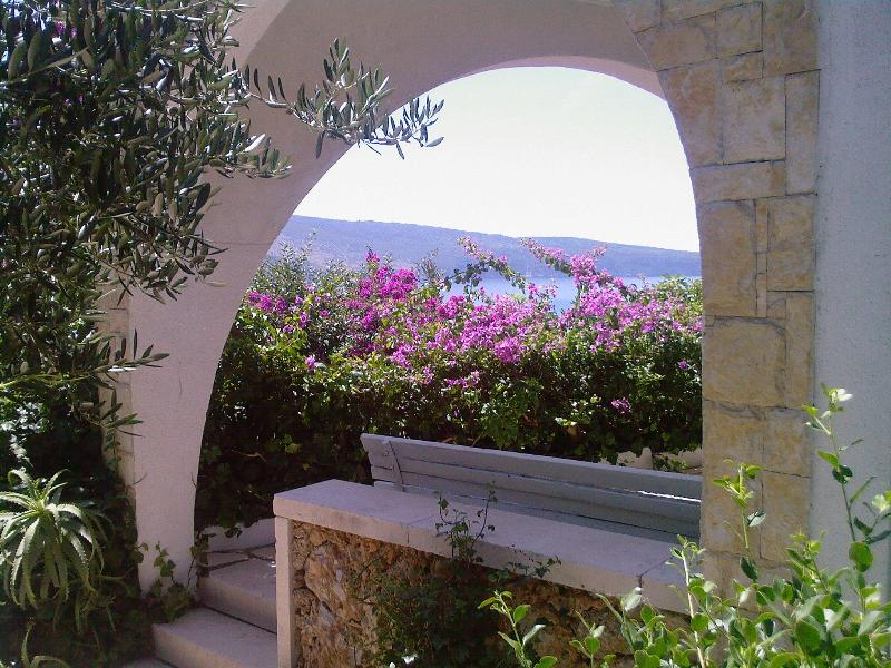 Terrace entrance - Levant apartment in Komiza, island Vis, Croatia - Komiza - rentals