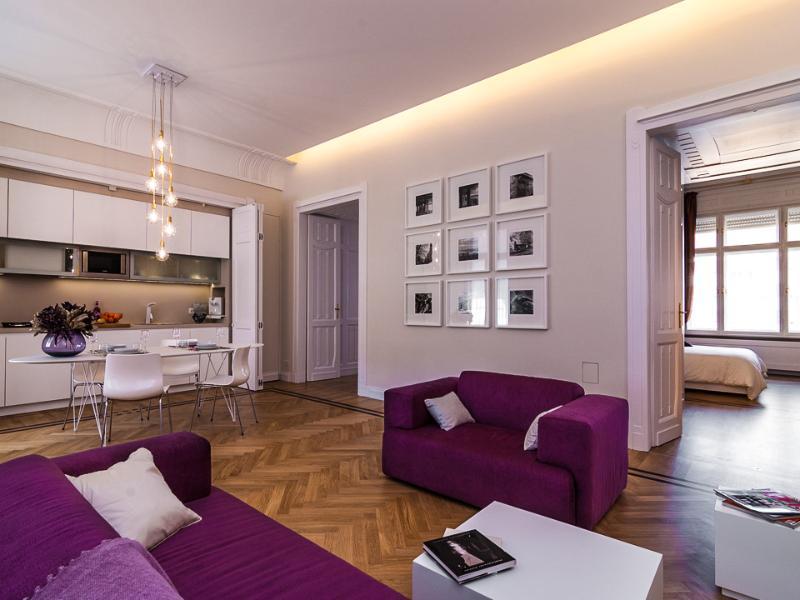 Living - Karoly  Deco Suite, next to Deak square,WiFi, A.C. - Budapest - rentals