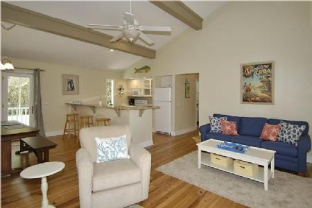 Living Room open to Kitchen - 1 Osprey - Hilton Head - rentals