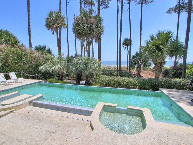 Oceanfront Pool and Baby Pool at 18 Brigantine - 18 Brigantine - Hilton Head - rentals