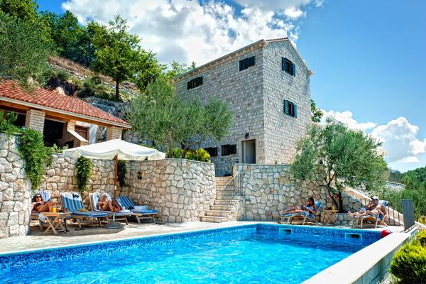 Stone villa with a pool for rent, Makarska area - Image 1 - Klek - rentals