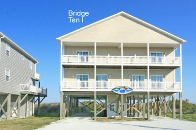 Streetside view of Bridge Ten I - 'Bridge Ten I - North Topsail Beach - rentals